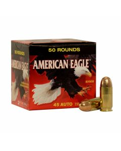 Federal American Eagle 45 ACP 230 Grain Full Metal Jacket 50 Rounds