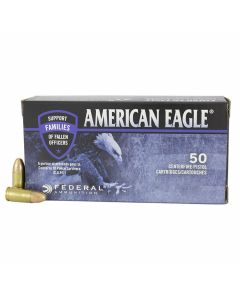 Federal American Eagle C.O.P.S. 9mm 115 Grain Full Metal Jacket 50 Rounds