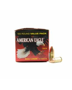 Federal American Eagle 9mm 115 Grain Full Metal Jacket 100 Rounds