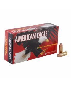 Federal American Eagle 9mm 115 Grain Full Metal Jacket 50 Rounds Tray less