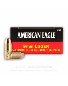 Federal American Eagle 9mm 147 Grain Full Metal Jacket 50 Rounds