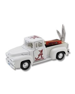 """Frost Cutlery Ocoee River University of Alabama 2017 National Champs Truck and Peanut 2.875"""" Knife Set with Crimson Jigged Bone Handle and Stainless Steel Plain Edge Blades Model AL17-PU107"""