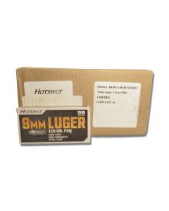 Century Arms Hotshot 9mm Luger 115 Grain Full Metal Jacket 1000 Rounds