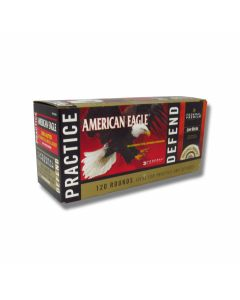 Federal American Eagle .380 ACP 95 Grain Full Metal Jacket and 90 Grain Jacketed Hollow Point Combo Pack 120 Rounds