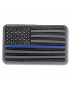 U.S. Flag PVC Morale Patch - Thin Blue Line