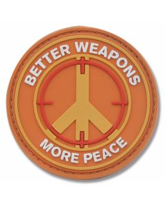 """Better Weapons, More Peace"" PVC Morale Patch"