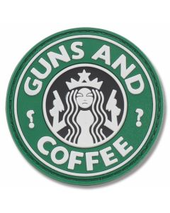 """Guns and Coffee"" PVC Morale Patch"