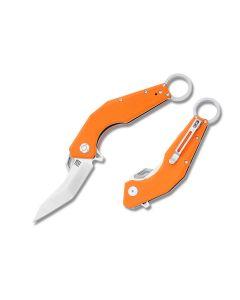 Artisan Cutlery 1811P-OEF Cobra D2 Tool Steel Blade Orange G10 Handle