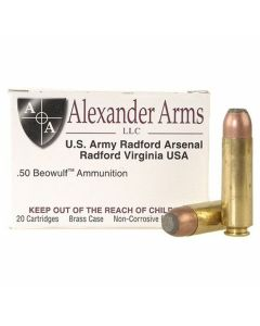 Alexander Arms .50 Beowulf 400 Grain Hawk Flat Point 20 Rounds