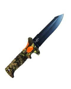 Bubba Blades BB1-SC-MO Camo Scout Knife Black Stainless Steel Blade Mossy Oak Camo Rubberized Thermoplastic Handle