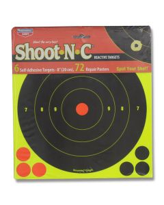 "Birchwood Casey Shoot-N-C 6pk 8"" Diameter Reactive Targets"