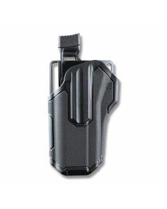 BLACKHAWK! Omnivor Multi-Fit Holster for Left Hand Carry Non Lightbearing Pistols with Rails Model 419000BBL