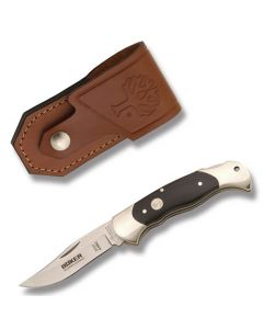 "Boker Folding Hunter 4.25""  with Buffalo Horn Handle and 440C Stainless Steel  Plain Edge Blade Model 112007"