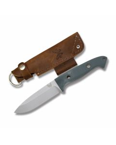 Benchmade 162 Bushcrafter with Contoured Green and Red G-10 Handles and Satin Finish CPM-S30V Steel Drop Point Plain Edge Blades Model 162