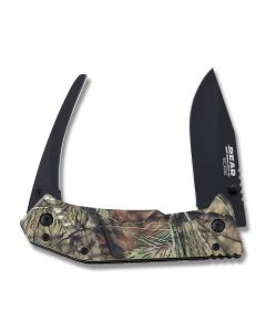 Bear and Son Bear Edge Predator Series 2 Black 440 Stainless Steel Blades Mossy Oak Camo Aluminum Handles