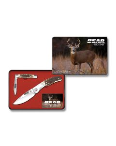 Bear and Son Bear Edge Limited Edition Gift Set with Stag Delrin Handles and 420 Stainless Steel Blades Model 71560
