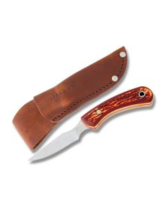"Bear & Son Hunter with Delrin Handles and 440 Stainless Steel 2.75"" Skinning Plain Edge Blades Model SD42"