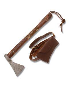 BW Custom Damascus Tomahawk with Wood Handle