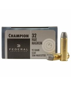 Federal Champion 32 H&R Magnum 95 Grain Lead Semi-Wadcutter 20 Rounds