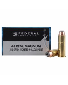 Federal Power-Shok 41 Rem Magnum 210 Grain Jacketed Hollow Point 20 Rounds