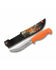 "Case Skinner with Lightweight Orange Textured Synthetic Handle and Tru-Sharp Surgical Steel 5.625"" Skinner Plain Edge Blade Model 06213"