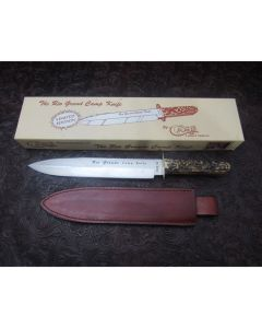 Rare Case stag handle Rio Grande Camp knife 10.125 inch mint condition stainless steel blade with plain blade edge