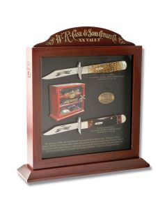 "Case XX Cheetah Vault Set 4.375"" with Jigged Bone Handles and Tru-Sharp Surgical Steel Plain Edge Blades Model 11379"