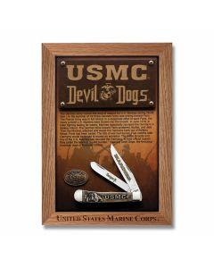 Case USMC Devil Dogs Natural Bone Trapper Tru-Sharp Surgical Steel Blades