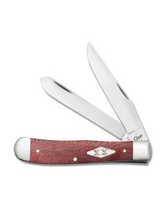 "Case Trapper 4.125"" with Smooth Red Sycamore Wood Handles and Tru-Sharp Surgical Steel Blades Model 17140"