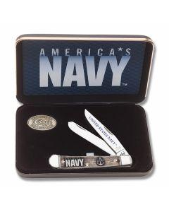 Case U.S. Armed Forces Navy Natural Bone Trapper Tru-Sharp Surgical Steel Blades