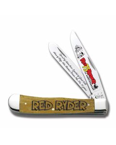 "Case Red Ryder Trapper 4.125"" with Antique Smooth Bone Handles and Tru-Sharp Surgical Steel Plain Edge Blades Model 21764"