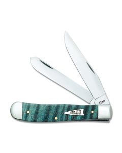 Case Turquoise Curly Maple Trapper Tru-Sharp Surgical Steel Blade