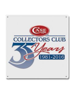 Case Collectors Club 35th Anniversary Tin Sign