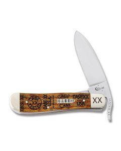 "Case Russlock 4.125"" with Tang Stamp Gold Curly Oak Handles and Tru-Sharp Surgical Steel Plain Edge Blade Model 29808TSW"