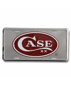 Case Red Oval License Plate