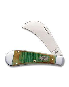"Case Hawkbill Pruner 4.125"" with Sawcut Clover Bone Handles and Tru-Sharp Surgical Steel Plain Edge Blades Model 51581"