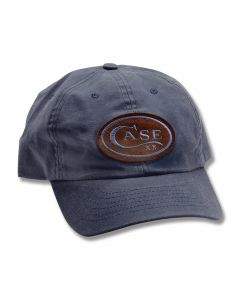 Case Distressed Blue Logo Hat