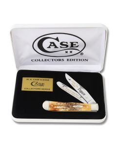 Case Love You Papaw Trapper with 6.5 Bonestag Handles and Tru-Sharp Surgical Steel Plain Edge Blades Model 65LYP