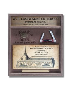 Case Medium Congress 2017 Dealer Knife with Jigged Crimson Bone Handle and Tru-Sharp Stainless Steel Blades Model 07000