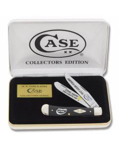 "Case America Needs Coal Trapper 4.125"" with Black Synthetic Handles and Tru-Sharp Surgical Steel Plain Edge Blades Model BD-ANC"