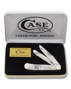 "Case World's Greatest Son Trapper 4.125"" with Heavenly Pearl Handles and Tru-Sharp Surgical Steel Plain Edge Blades Model HP-SON"