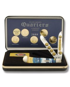 F/Case 2000 State Series Quarters Trapper Set - Gold Plated