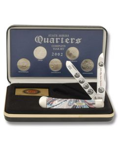 F/Case 2002 State Series Quarters Trapper Set - As Minted