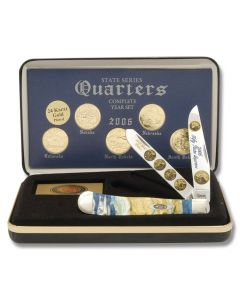 F/Case 2006 State Series Quarters Trapper Set - Gold Plated