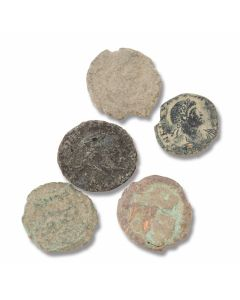 Set of (5) Unrestored Coins