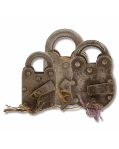 """Antique """"Pirate"""" Lock (Non-Working)"""