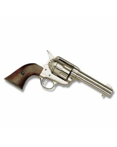 Collector's Armoury Nickel 1873 Model Fast Draw Pistol