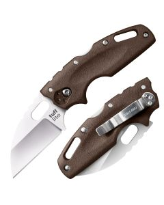 """Cold Steel Tuff Lite with Brown Polymer Handle and Satin Finish AUS-8A Stainless Steel 2.50"""" Wharncliffe Blade Model 20LTF"""