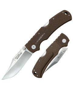 """Cold Steel Double Safe Hunter with Brown GFN Handle and Satin Finish 8Cr13MoV Stainless Steel 3.5"""" Clip Point Blade Model 23JA"""