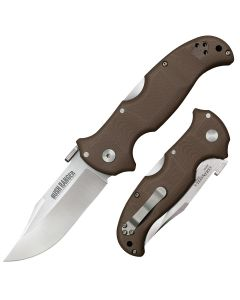 """Cold Steel Bush Ranger with Brown G-10 Handle and CPM-S35VN Stainless Steel 3.50"""" Clip Point Blade Model 31A"""